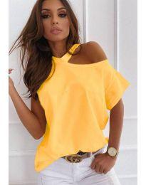 Κοντομάνικο μπλουζάκι - κώδ. 0599 - κίτρινο