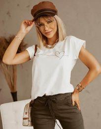 Дамска тениска в бяло - код 2980
