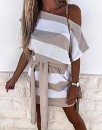 Φόρεμα - κώδ. 4633 - μπεζ