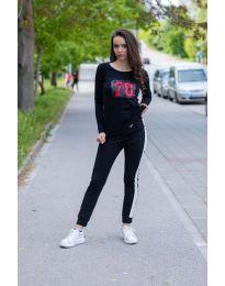 Κοντομάνικο μπλουζάκι - κώδ. 987 - 1 - μαύρο