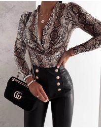 Γυναικείο κορμάκι με εντυπωσιακό ντεκολτέ με ελκυστικό σχέδιο - κωδικός 422-6