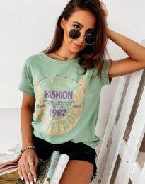 Κοντομάνικο μπλουζάκι - κώδ. 4658 - μέντα