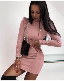 Φόρεμα - κώδ. 8484 - ροζ