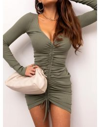 Φόρεμα - κώδ. 12069 - λαδί