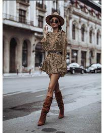 Φόρεμα - κώδ. 0701 - καφέ