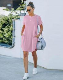 Φόρεμα - κώδ. 384444 - ανοιχτό ροζ