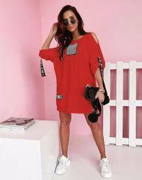 Φόρεμα - κώδ. 5475 - κόκκινο