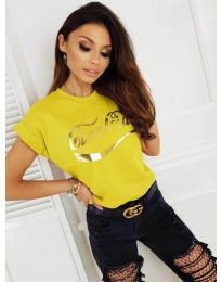Κοντομάνικο μπλουζάκι - κώδ. 3659 - κίτρινο