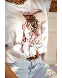 Κοντομάνικο μπλουζάκι - κώδ. 4147 - λευκό