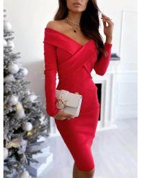 Φόρεμα - κώδ. 6130 - κόκκινο