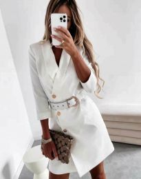 Φόρεμα - κώδ. 9257 - λευκό