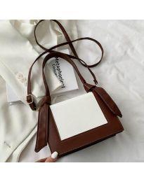 Τσάντα - κώδ. B574 - σκούρο καφέ