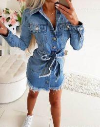 Φόρεμα - κώδ. 3666 - μπλε