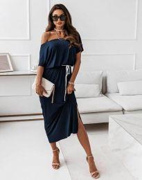 Φόρεμα - κώδ. 11973 - σκούρο μπλε
