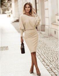 Φόρεμα - κώδ. 2242 - μπεζ