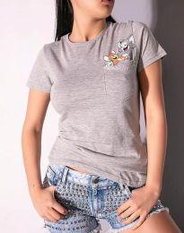 Κοντομάνικο μπλουζάκι - κώδ. 2447 - 2 - γκρι