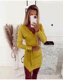 Φόρεμα - κώδ. 2077 - κίτρινο