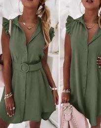 Φόρεμα - κώδ. 7411 - λαδί