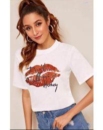 Κοντομάνικο μπλουζάκι - κώδ. 914 - λευκό