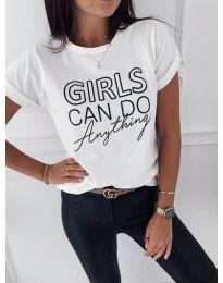 Κοντομάνικο μπλουζάκι - κώδ. 3581 - λευκό