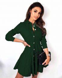 Φόρεμα - κώδ. 3852 - σκούρο πράσινο