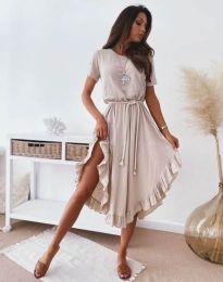 Φόρεμα - κώδ. 11893 - μπεζ