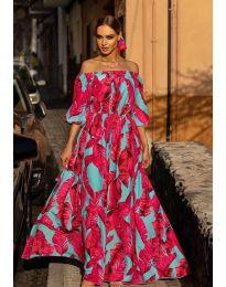 Φόρεμα - κώδ. 6599 - 2 - πολύχρωμο