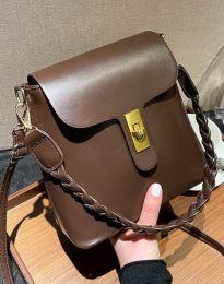 Τσάντα - κώδ. B328 - σκούρο καφέ