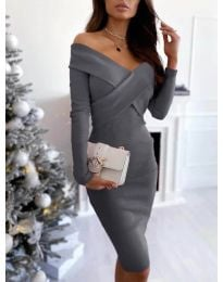 Φόρεμα - κώδ. 6130 - γκρι