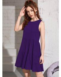 Φόρεμα - κώδ. 4471 - σκούρο μωβ