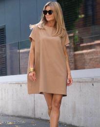 Φόρεμα - κώδ. 6332 - 1 - καπουτσίνο