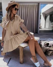 Φόρεμα - κώδ. 6144 - καπουτσίνο