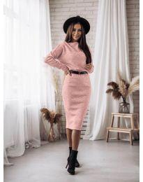Φόρεμα - κώδ. 7719 - ροζ