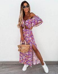 Φόρεμα - κώδ. 6798 - μωβ