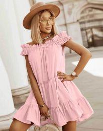 Φόρεμα - κώδ. 6969 - ανοιχτό ροζ