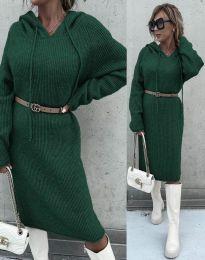 Φόρεμα - κώδ. 6449 - σκούρο πράσινο