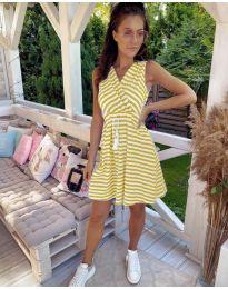Φόρεμα - κώδ. 3148 - κίτρινο