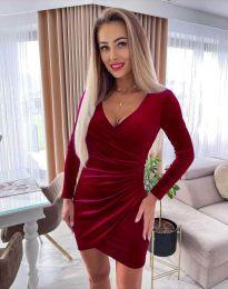 Φόρεμα - κώδ. 3872 - μπορντό