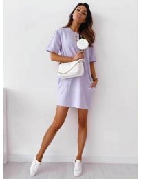 Φόρεμα - κώδ. 7236 - μωβ