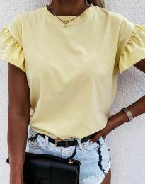 Κοντομάνικο μπλουζάκι - κώδ. 4352 - ανοιχτό κίτρινο
