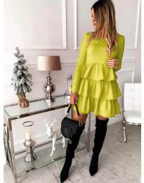 Φόρεμα - κώδ. 966 - κίτρινο