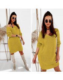 Φόρεμα - κώδ. 6457 - μουσταρδί