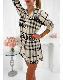 Φόρεμα - κώδ. 5456 - μπεζ