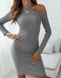 Φόρεμα - κώδ. 4859 - σκούρο γκρι