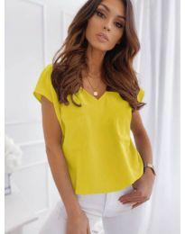 Κοντομάνικο μπλουζάκι - κώδ. 920 - κίτρινο