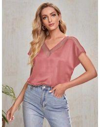 Κοντομάνικο μπλουζάκι - κώδ. 5754 - ροδακινί