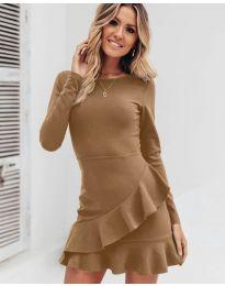 Φόρεμα - κώδ. 2909 - καφέ