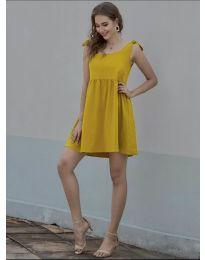 Φόρεμα - κώδ. 2255 - μουσταρδί