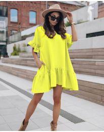 Φόρεμα - κώδ. 748 - νέον κίτρινο