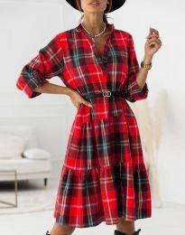 Φόρεμα - κώδ. 6842 - κόκκινο